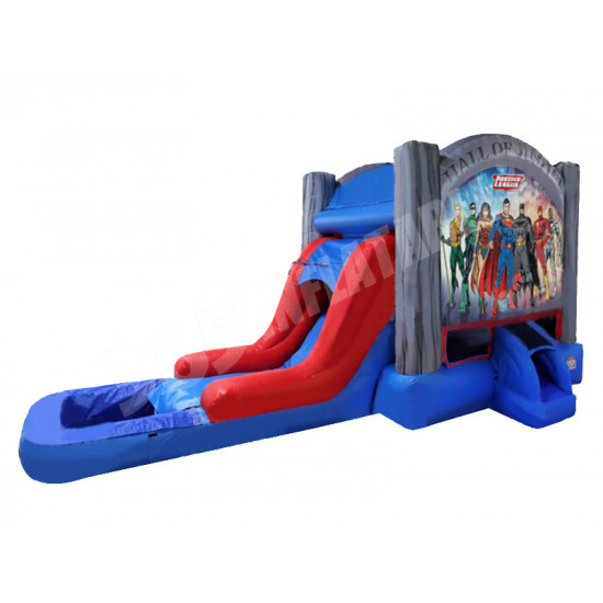 Justice League Jumping Castle Slide Pool