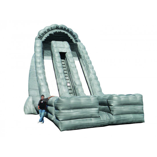Inflatable Dry Slide 27ft Mount Rushmore Dual Lane Slide