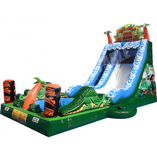 Tiki Falls Slide With Detachable Pool