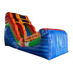 Blue Wave Marble Inflatable Water Slide