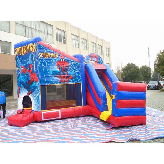 Spiderman Jumping Castle Slide