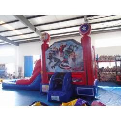 Avengers Jumping Castle Slide